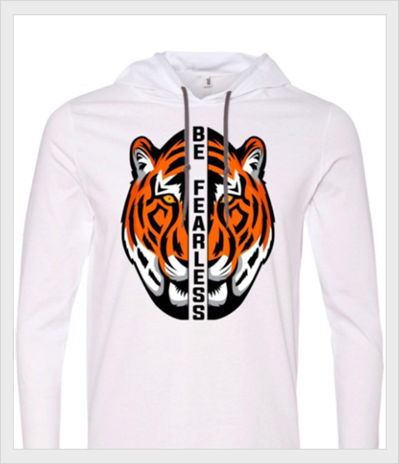 Be Fearless Tiger sweatshirt from LoveLifeLaughter